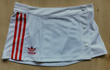 ADIDAS ORIGINALS ! WOMENS UK 10 ! SHORT SPORTS TENNIS SKIRT TREFOIL 3 STRIPES !