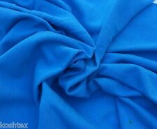 Organic Cotton Fabric Blend Jersey Knit Eco Friendly BTY  Electric Blue