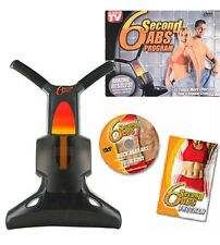 6 SECOND ABS EXERCISER 6 PACKSTOMACH CRUNCH TONING SIX PACK WEIGHT LOSS FREE DVD