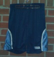 NBA Elevation Athletic Shorts Navy With Baby Blue Large
