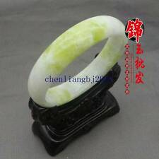 60mm Natural Chinese jade hand-carved bracelet,beautiful  bangle CL-689