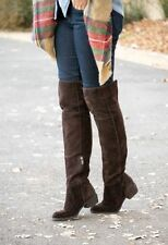 SAM EDELMAN JOHANNA OVER THE KNEE DARK BROWN SUEDE RIDING BOOTS 8.5 $300 RETAIL