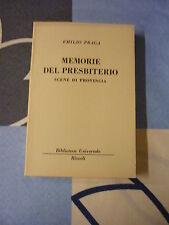 MEMORIE DEL PRESBITERISMO PRAGA EMILIO