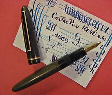 vtg CentroPen 10040 Hard Rubber Cigar Flex 14K Gold Czech Nib Fountain Pen HR