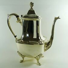 1847 Rogers Bros. Daffodil Coffee Pot International Silver Co Silverplate c.1950