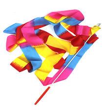4M Colorful Gym Dance Ribbon Streamer Baton Twirling Rod Rhythmic Art Gymnastic