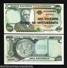 MOZAMBIQUE 1000 ESCUDOS P119 1976 AIR PLANE UNC PORTUGAL AFRICA CURRENCY 25 PCS