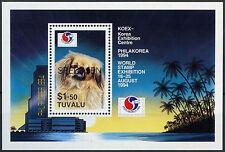 Tuvalu 1994 Sg #ms 711 Philakorea Sello exhibición. optd Modelo Mnh m/s #a 86264