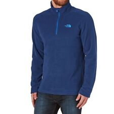 The North Face Men's Fleece 100 Glacier 1/4 Zip In Blue Size Large BNWT Genuine