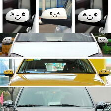 2pc Cute Car Styling Smile Face 3D Decal Black Sticker for Auto Car Side Mirror