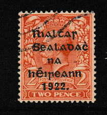 IRELAND, Scott #16b w/R over S: 2d(I), Used, 1922 Thom Ovpt in Black