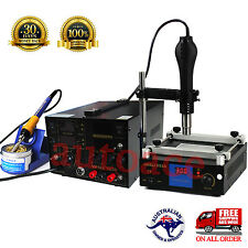 YIHUA Hot air gun Soldering Iron DC Power 5A Rework Station Preheat stand holder