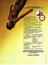 PUBLICITE ADVERTISING 044  1973  CHARLES OF THE RITZ  cosmétiques solaires
