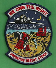 OPERATION DESERT STORM B-117 MILITARY AIRCRAFT PATCH WE OWN THE NIGHT