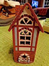 Vintage Handmade Clay Candle House Lithuanian House Candle Holder