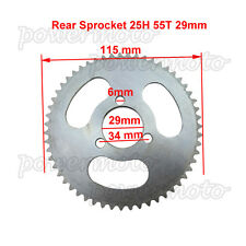 25H 55 Tooth Rear Sprocket Fit Zooma Kragen 33cc Stand Up Scooter Mini Moto Bike