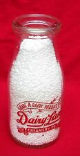 Dairy Land Creamery Co  half pint Milk Bottle Glass Jug Pyro