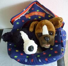 Build A Bear dogs -  BOXER & BORDER COLLIE with dog house