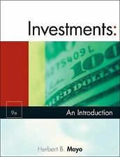 Investments : An Introduction by Herbert B. Mayo   College Textbook   EUC