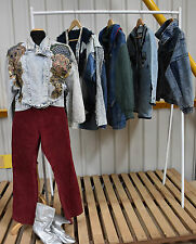 JOB LOT OF 5 LADIES 80S DENIM JACKETS.