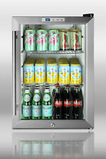 "Summit SCR312L Commercial Counter Top 18"" Compact Refrigerator Beverage W Lock"
