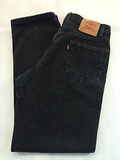 LEVI'S 550 RED TAB RELAXED FIT JEANS MEN'S SIZE 36X34 BLACK 100% COTTON