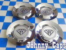 AZEV UNKNOWN Wheels CHROME Center Cap # N/A Custom Wheel Center Caps (SET of 4)