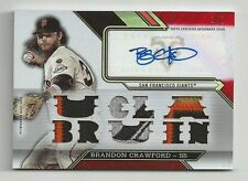 2016 Topps Triple Threads BRANDON CRAWFORD Auto Patch 1/1