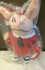 """Olivia The Pig Backpack Pull / 7"""" Plush Clip On"""