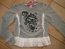 (323) Nolita Pocket Girls Sweatshirt A-Form Gummi Logo Besatz & Volants gr.128