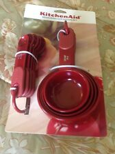 KITCHEN AID MEASURING CUPS MEASURING SPOONS SET RED 9 SIZES NIP
