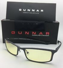 New GUNNAR Computer Glasses PHENOM 55-18 134 Graphite Frame w/ Amber Yellow Lens