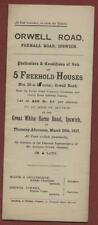 Ipswich. 20 to 28 Orwell Road.  1917  Sale auction houses  ec.48