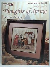 Paula Vaughan Thoughts of Spring Cross Stitch Pattern Leaflet 2519 Book 55