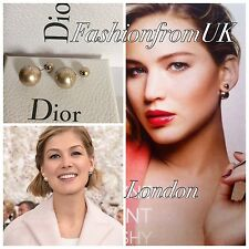 DIOR TRIBAL Beige Gold Crystal EARRINGS RUNWAY