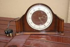 ART DECO SMITHS WOODEN ELECTRIC CLOCK