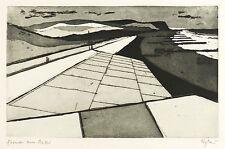 OTTO EGLAU - FORMEN AM MEER - Radierung / Aquatinta 1958
