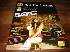 BAT FOR LASHES - PUBLICITE / ADVERT FUR AND GOLD !!!!!!