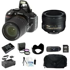 Nikon D5300 DSLR Camera with 18-140mm + 50mm1.8G Lens + (Macro Kit)