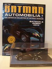 Batman Automobilia Car Collection 16 Batman And Robin Batmobile with magazine.