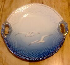 BING & GRONDAHL PORCELAIN CAKE PLATE WITH SEA GULL DECORATION