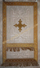 Russian Orthodox Nabedrennik Vestment Award White Brocade with Gold