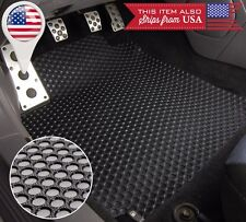 4 PCS Black All Weather Heavy Duty Rubber Floor Mats For 14-16 Kia Soul