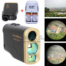 Pro 1000m Laser Range Finder Golf Distance Meter Speed Measurer+Battery&Charger
