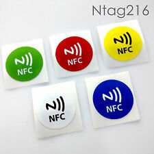 5 pcs Ntag216 nfc Tag with Printed NFC Logo