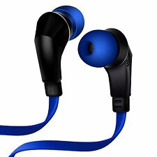 NEW NOISEHUSH NX80 BLUE 3.5mm STEREO HEADPHONES HEADSET MIC FOR CELL PHONE iPOD