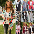 UK WOMENS LADIES GIRLS LONG SLEEVE BOYFRIEND CARDIGAN TOP PLUS SIZE OUTWEAR 6-14