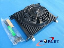 """30 ROW AN10 FITTING HEAVY DUTY OIL COOLER& 7"""" ELECTRIC FAN for JAPAN TUNING CARS"""