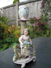 BEAUTIFUL ANTIQUE  MEISSEN FIGURAL CANDLESTICK/CHAMBERSTICK
