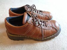 DR MARTENS DM's BROWN LEATHER OXFORDS MADE IN ENGLAND VINTAGE SIZE UK 9 (USA 10)